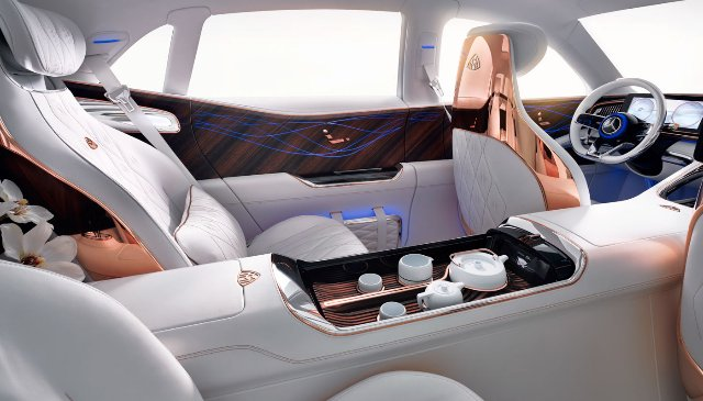 Maybach Ultimate Luxury EV предлагает собственный чайный сервис