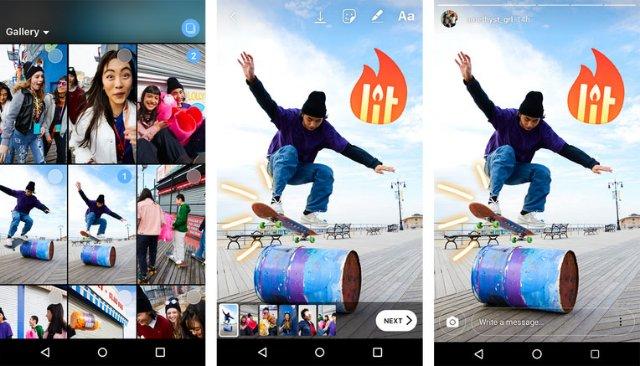 Instagram Stories теперь позволяет одновременно загружать несколько фотографий и видео