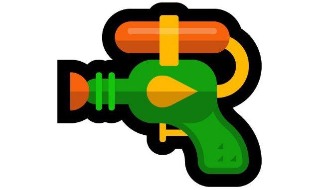 Microsoft также заменяет свой пистолет emoji водяным пистолетом