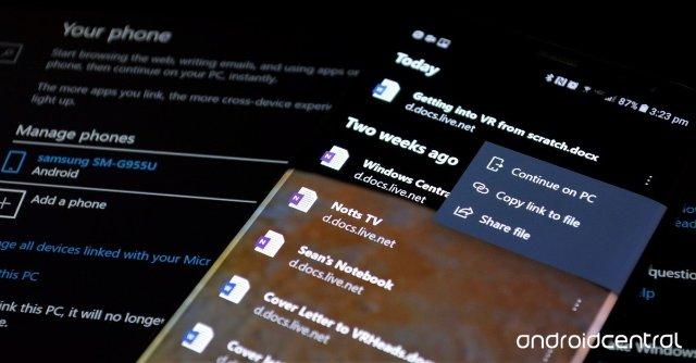 Microsoft Android может запускать приложения с Windows Timeline