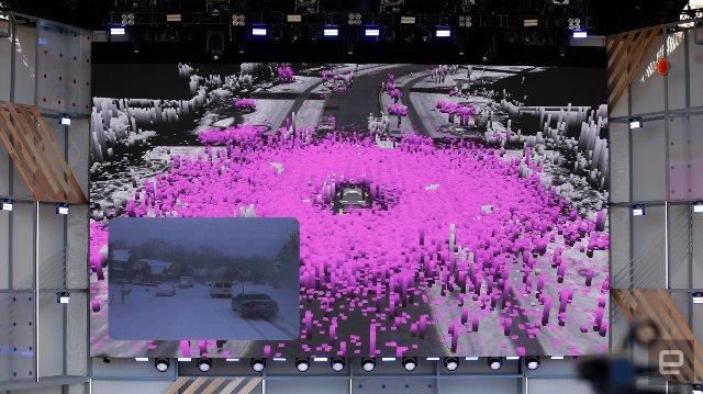 Waymo показывает, как ее автономные автомобили перемещаются по снегу