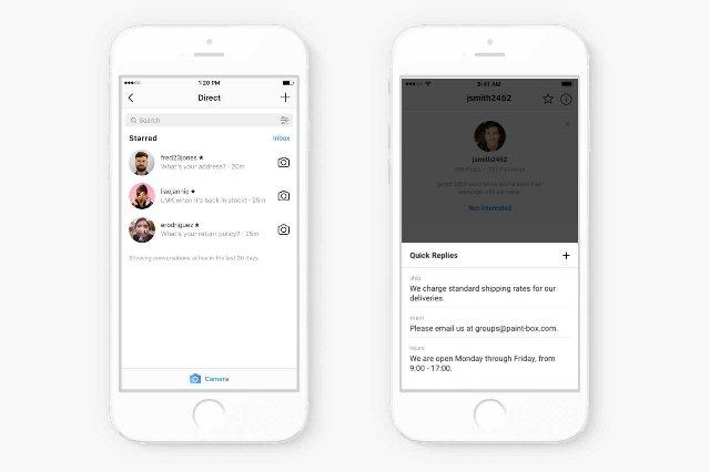 Instagram упрощает магазинам ответы на ваши вопросы