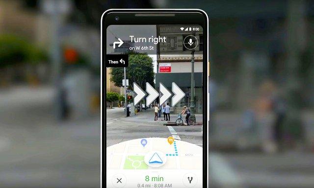 Google демонстрирует свою навигационную систему с поддержкой камеры
