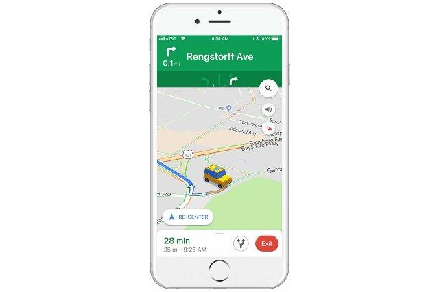Карты Google могут заменить тусклую стрелку значками 3D-автомобилей