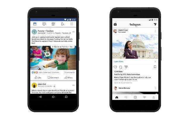 Информация о политических рекламных объявлениях в Facebook вступает в силу в США