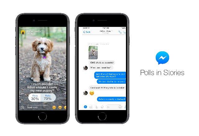 Опросы теперь доступны и для Facebook Messenger Stories