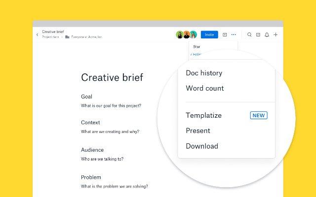Приложение Dropbox Paper теперь поддерживает пользовательские макеты