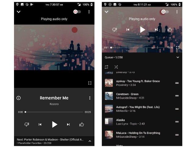 Музыкальное приложение YouTube получает обновленный экран воспроизведения