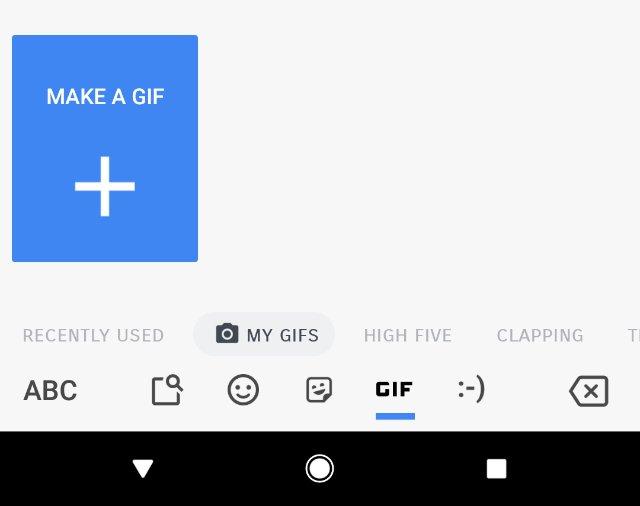 Gboard beta для Android позволяет создавать собственные GIF-файлы