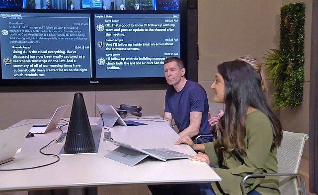 Microsoft ИИ распознает лица и голоса во время встреч