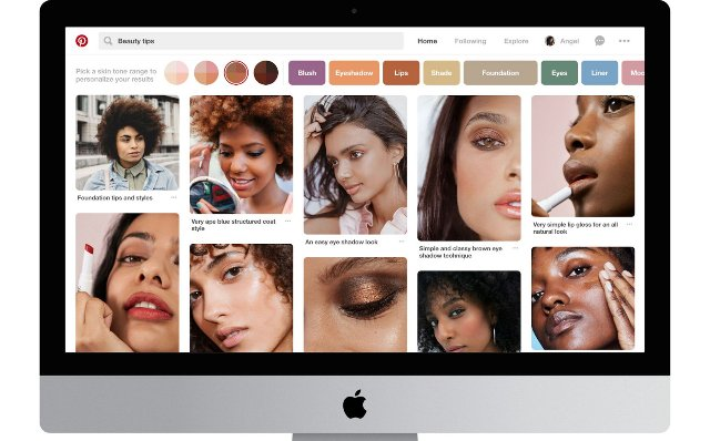 Pinterest тестирует способ поиска пинов по тону кожи
