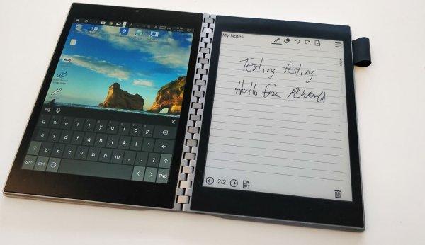 Концептуальный ноутбук Intel Tiger Rapids с двумя экранами готовится