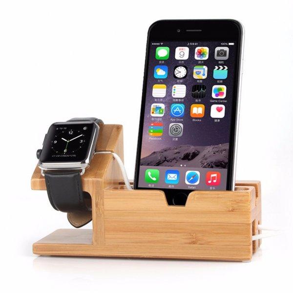 IPhone и Apple Watch получили деревянное зарядное устройство