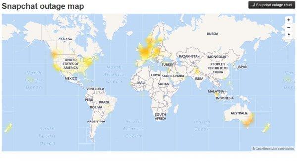 Snapchat дал сбои по всему миру