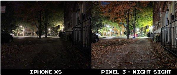Смартфон Pixel 3 превзошел iPhone XS при фотосъёмке в темноте – эксперт