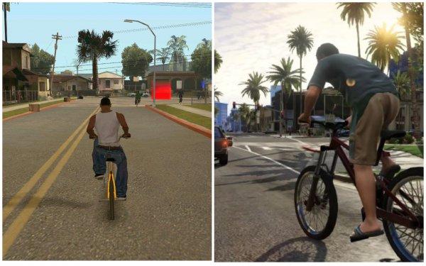 Легендарная GTA San Andreas получила лучшую графику GTA V