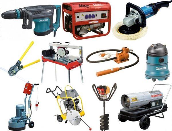 Арендовать строительные инструменты по лучшим ценам