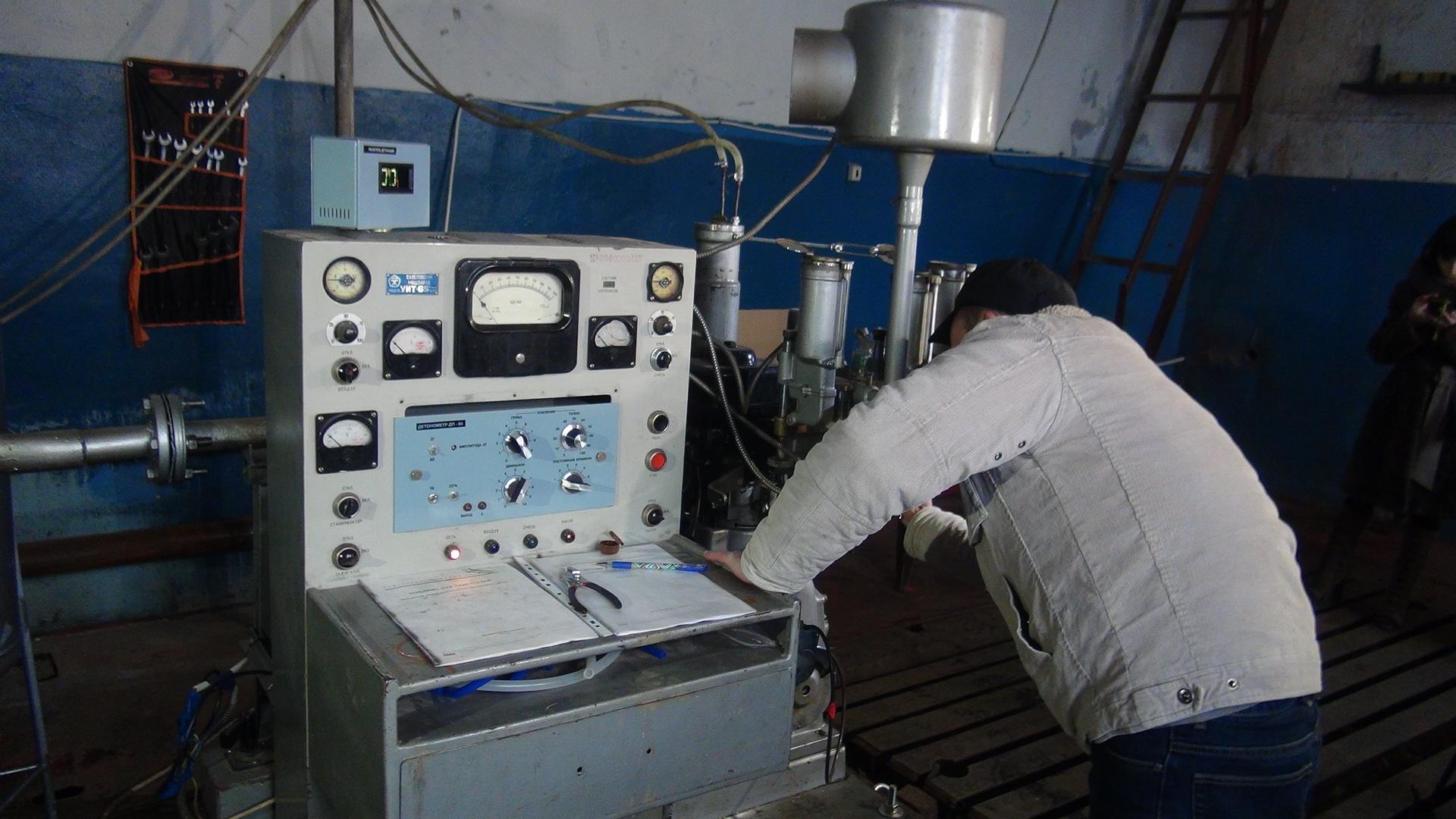 Обслуживание моторной установки УИТ-85